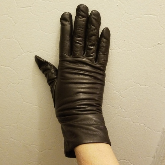 TENDER GLOVNG CARE Accessories - BROWN LEATHER GLOVES/CASHMERE LINED SIZE S/M/L NWT